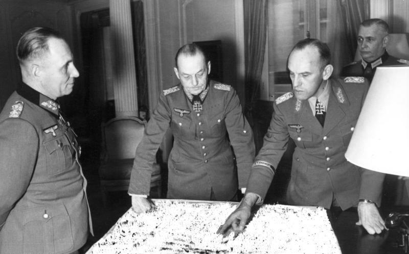 Paris, Rommel, von Rundstedt, Gause und Zimmermann