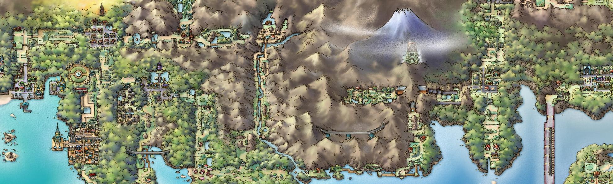 Pokémon Kanto/Johto map