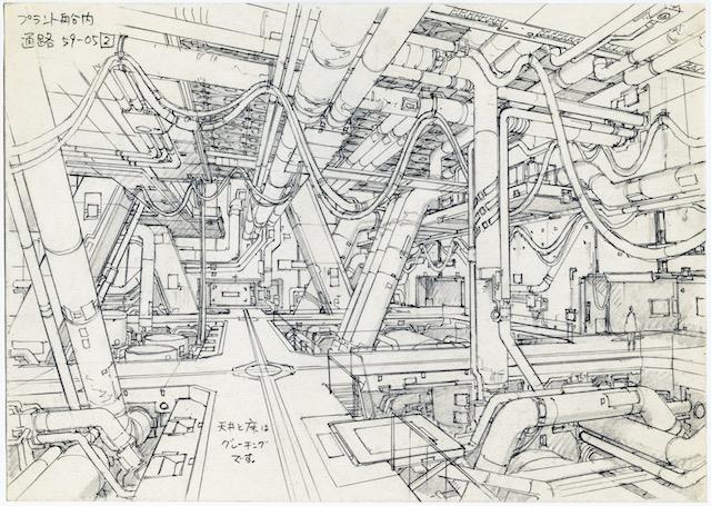 Concept design for Ghost in the Shell 2: Innocence (2004). Pencil on paper, 176 × 250 mm. Illustrator: Takashi Watabe Copyright: © 2004 Shirow Masamune / KODANSHA · IG, ITNDDTD