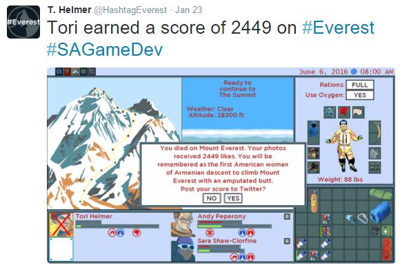 #Everest twitter screencap