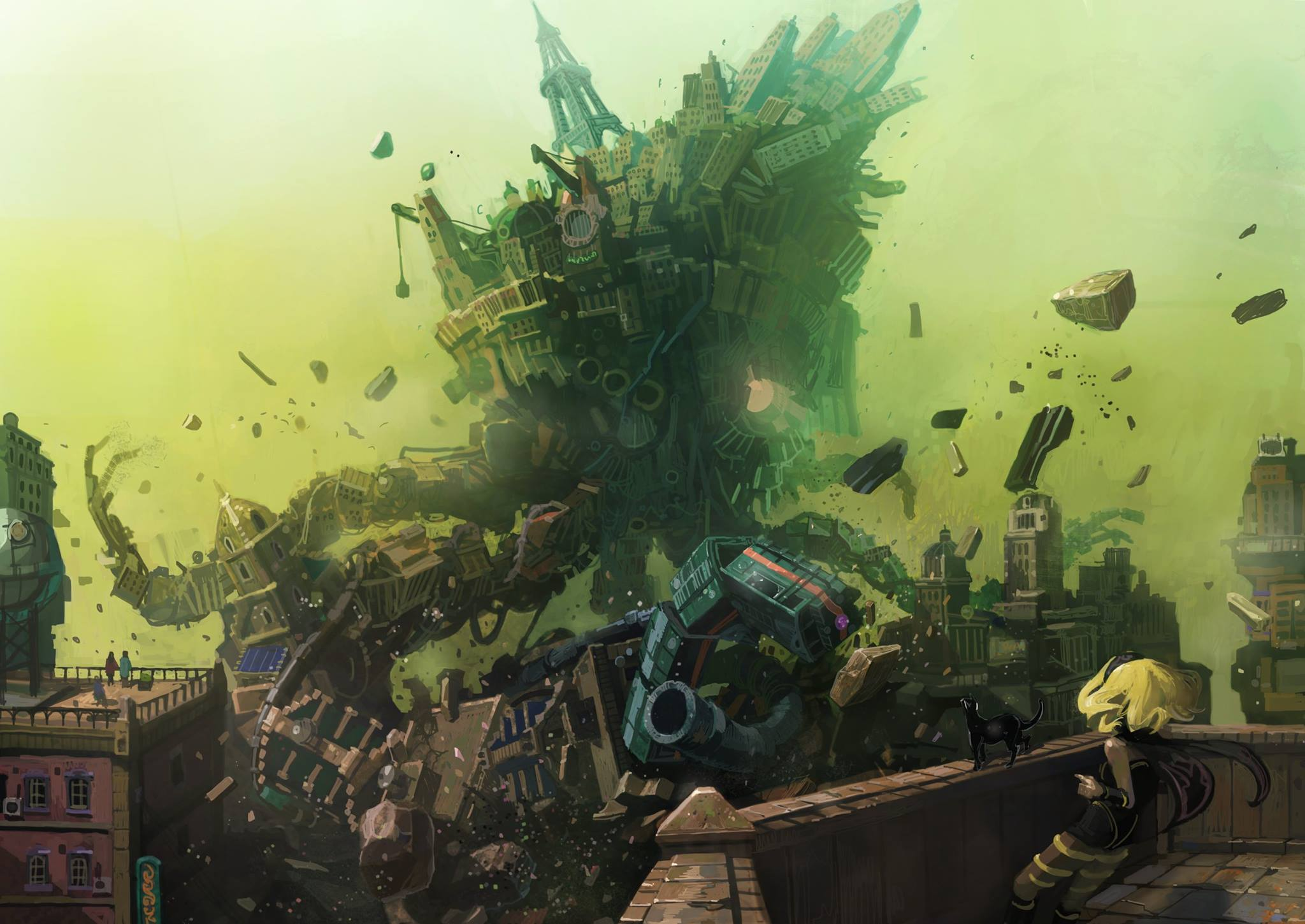 Gravity Rush 2 - living city battle