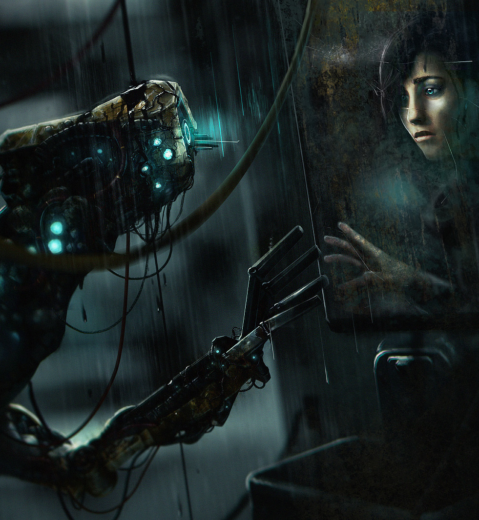 Art from the game SOMA, which explores the consequences of the human mind existing outside of the body