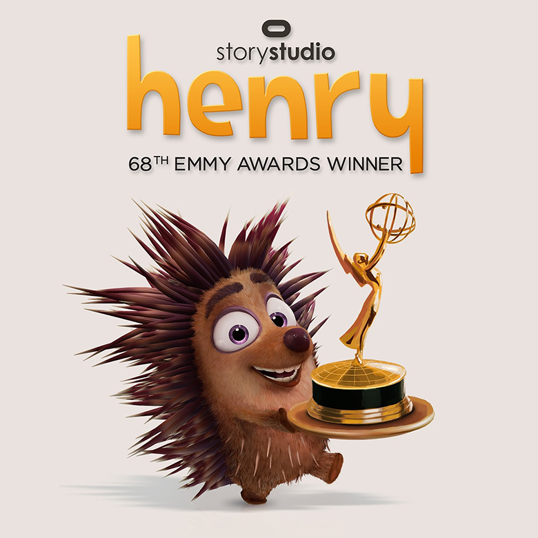 Aw, Henry's so happy to have an Emmy.