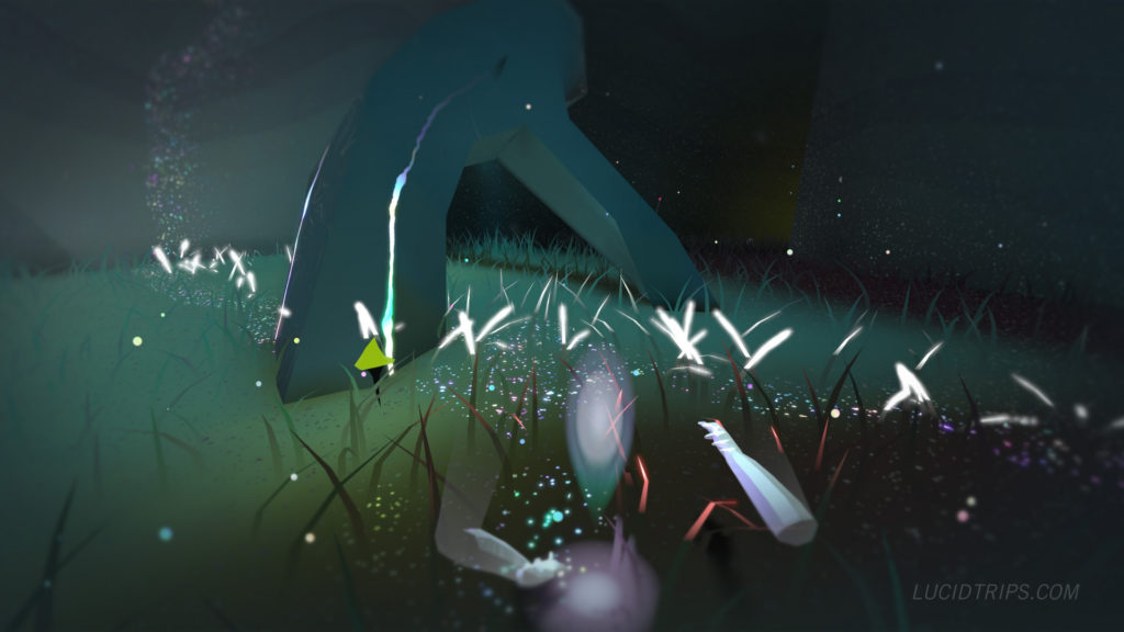In Lucid Trips, it's just you, your ghost hands, and a surreal dreamplanet to explore.