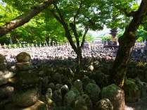 Grave stones of Adashino Nembutsuji