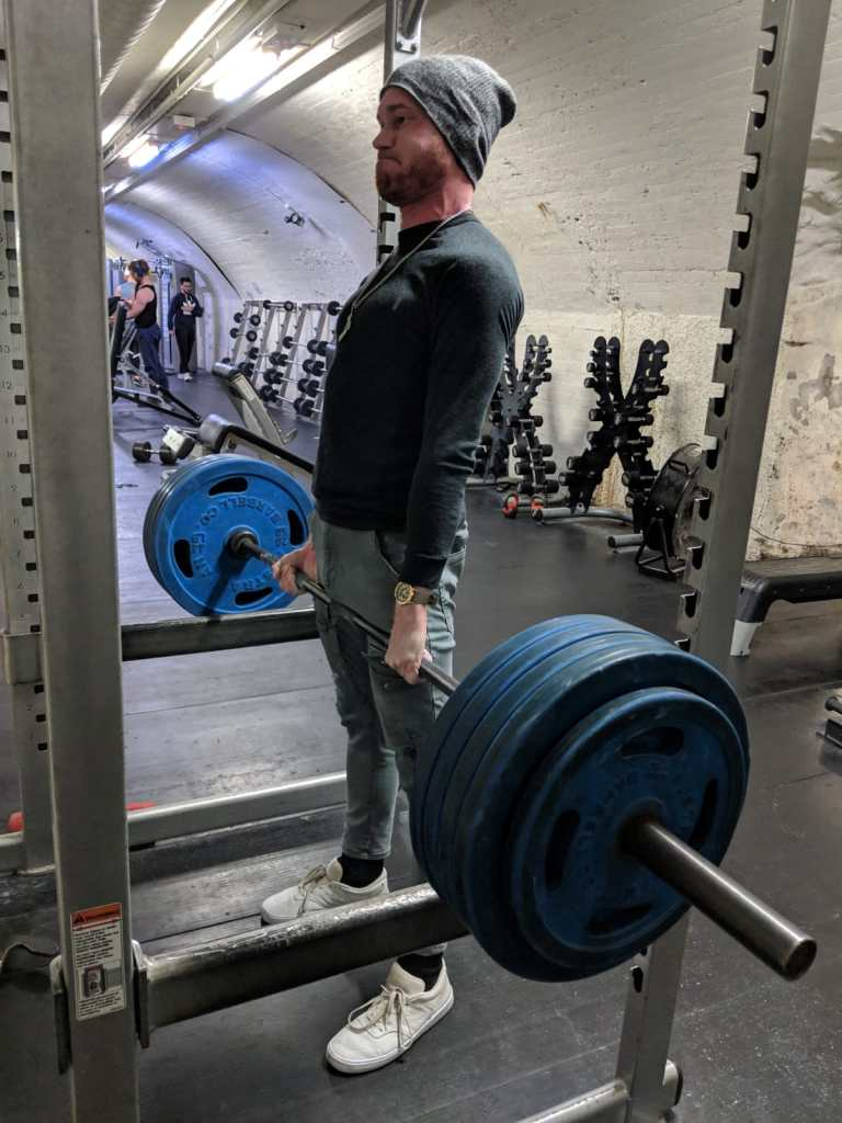 Fucking around with a 200kg (440lbs) rack pull