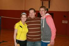 Plate Winners Edel and James with Club Captain Ian.