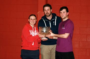 Section A Winners. Eoin & Aoife with Seamus Kiersey.