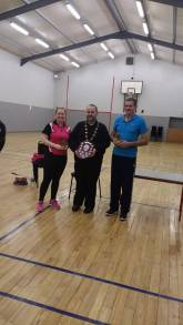 Edel and James were the mixed doubles winners.