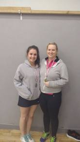 Edel and Maura beat Carol and Fiona in the ladies doubles plate final.