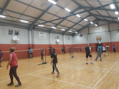 Great to see a full badminton hall in May! Roll on the All-Irelands on Sunday.