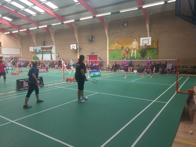 All kilmac final in section 3 ladies doubles in Kilcullen at shuttlefest!!!