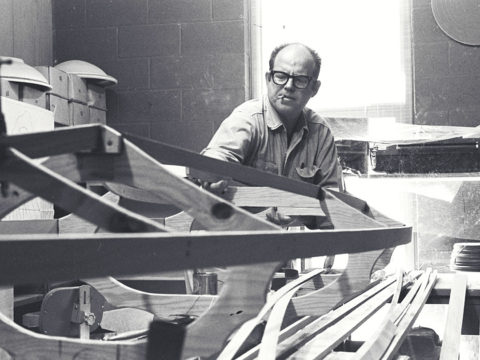 John McElroy Building Kayak Circa 1968
