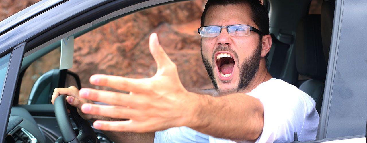 conducir enfadado