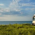 Caravana vistas paisaje
