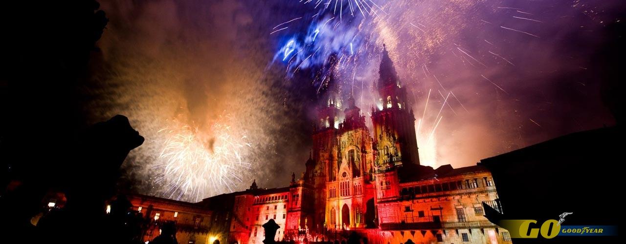 Día de Galicia, fuegos artificiales en honor al Apóstol