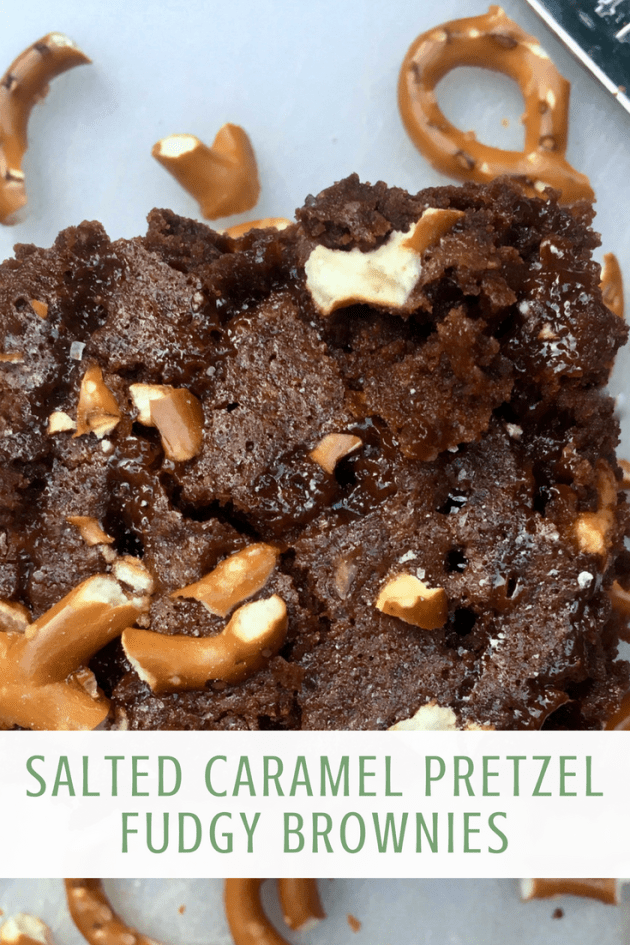 Salted Caramel Pretzel Fudgy Brownies