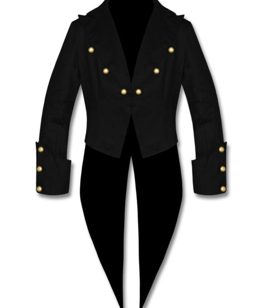 Banned Cotton Tailcoat Steampunk Goth Victorian Swallowtail Jacket (2)