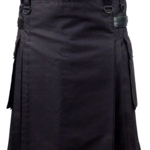 Black Deluxe Utility Fashion Kilt