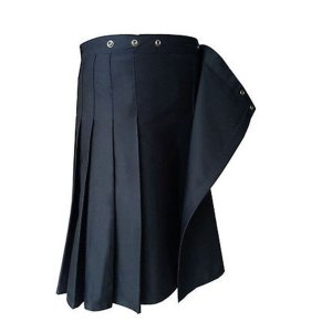 Black Formal Police Utility Kilt