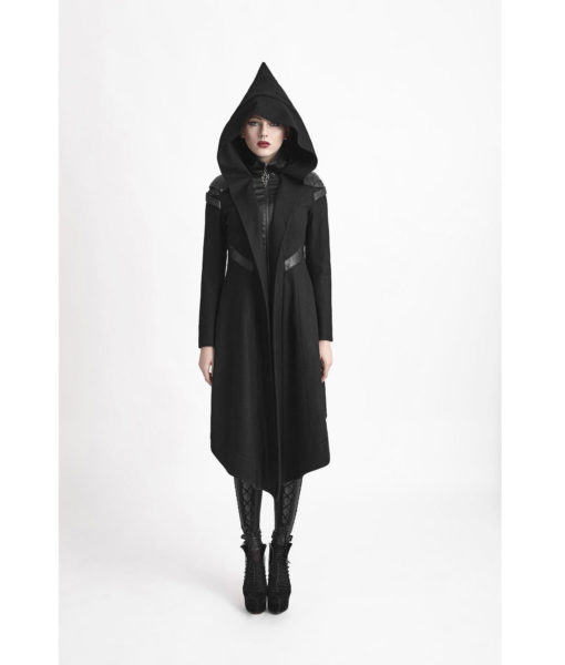 Punk-Rave-Women-Hooded-Long-Jacket-Coat-Black-Goth-Cosplay-Cyber-Steampunk-front-510×600
