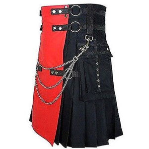 Black And Red Deluxe Utility Kilt