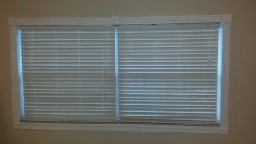 New blinds and finished molding