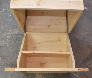 Drawer at full extension