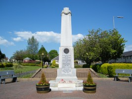 The war memorial at the cemetery