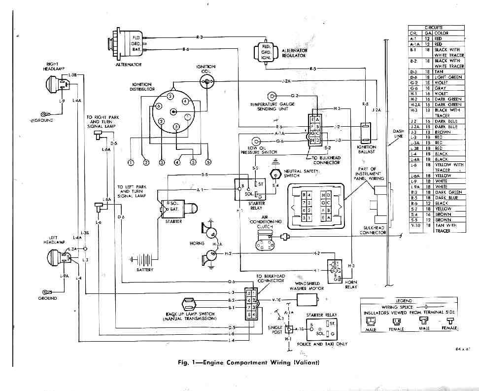 wiring diagrams valiant 1964