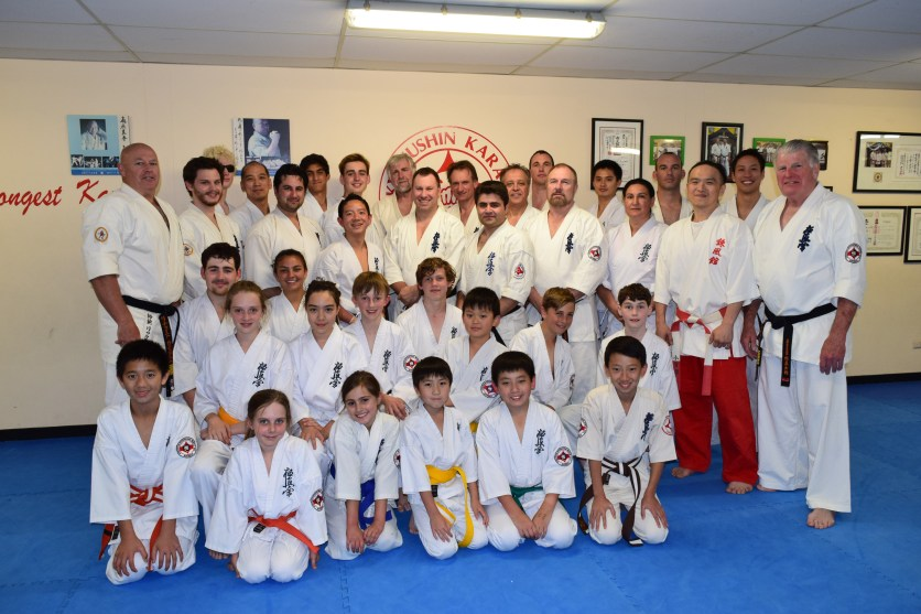 The Wednesday night class at the Shihan Ken Seminar.