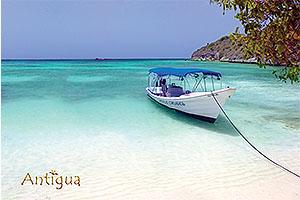 "Great Bird Island, Antigua W.I. Collectible Postcard ANU4611,size 153mm * 102mm ( 6"" x 4"")"