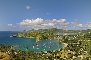 "English Harbor, Antigua W.I. Collectible Postcard ANU4667,  size 153mm * 102mm ( 6"" x 4"")"
