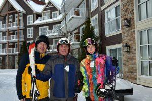 Three generations family in Blue Mountain Resort Fun