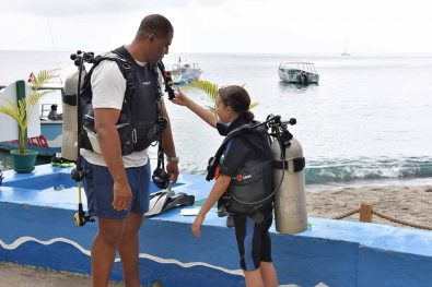 Deep Water SCUBA Diver certification dive at Anse Chastanet Marine Park, Saint Lucia