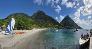 Sugar Beach, Soufriere, Beautiful Saint Lucia