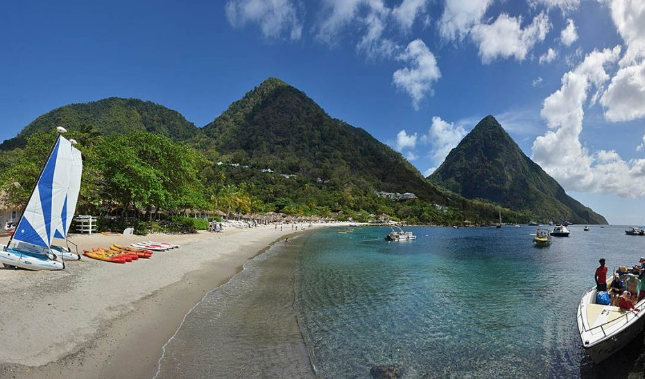 Sugar Beach, Soufriere, Beautiful Saint Lucia