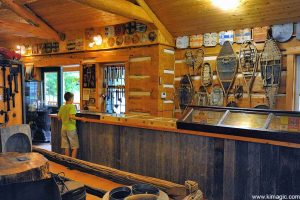 Interior of Maple Syrup Museum in McDonalds Corners