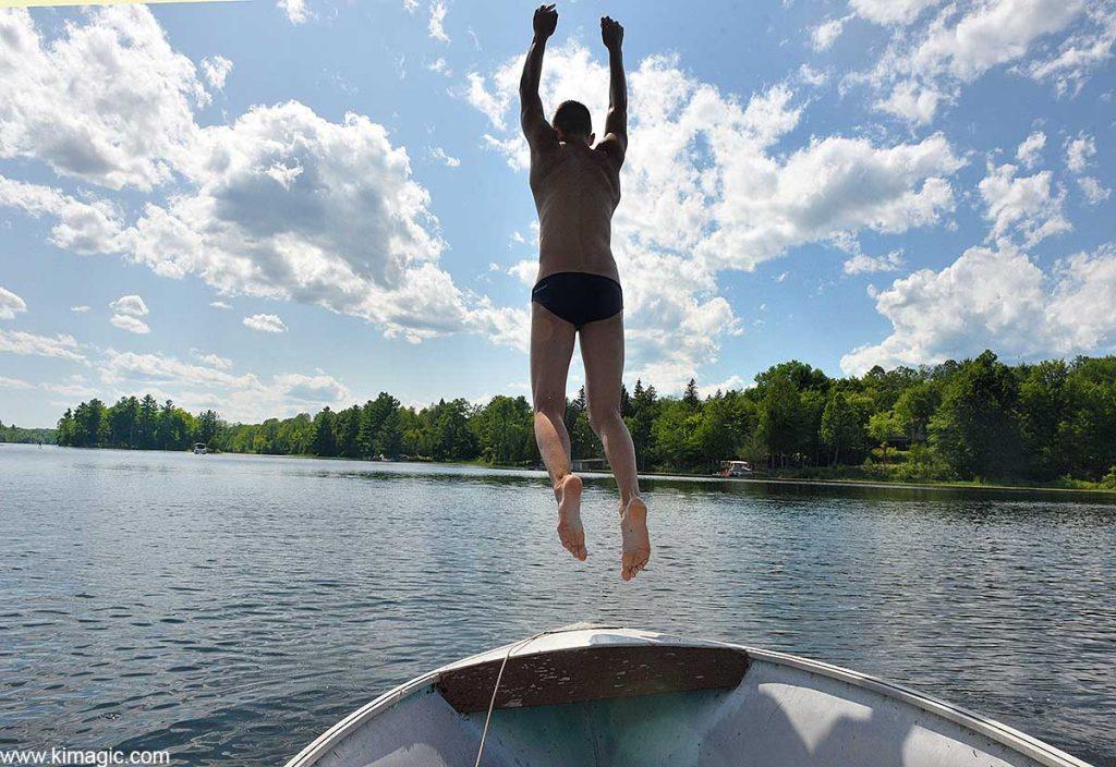 Beat the heat, Long Lake, Perth, Ontario