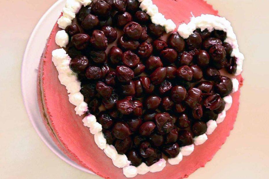 Sour Cherry Mousse Cake