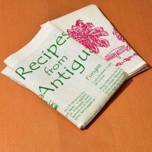 Linen Dish Towel Recipes from Antigua set
