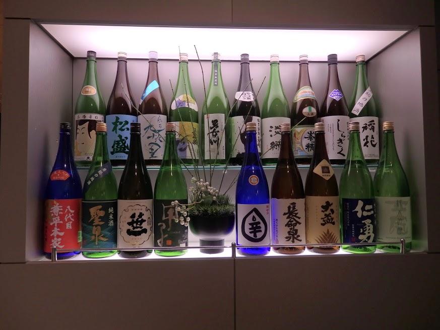 ANAラウンジの日本酒