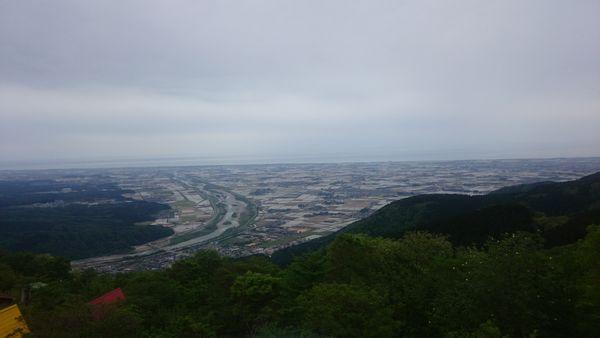 獅子吼高原から見る金沢平野