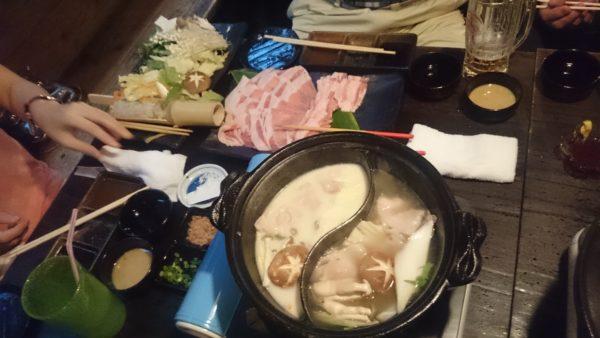 月の風 あぐー豚の鍋