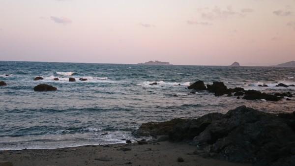 肉眼で見える軍艦島