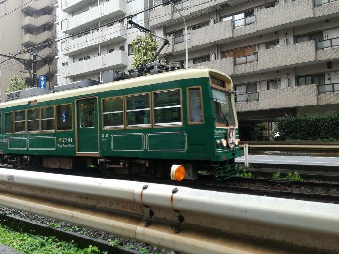 都電荒川線(早稲田近辺にて)