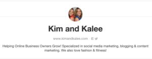 Pinterest Tools - Creating a Great Bio