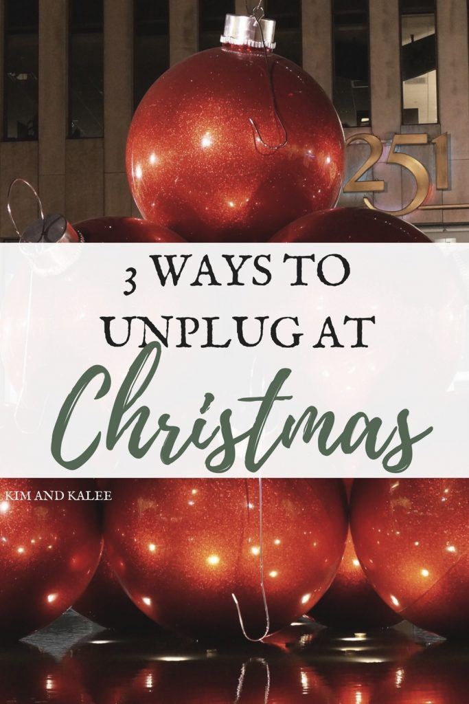 unplug without guilt at Christmas