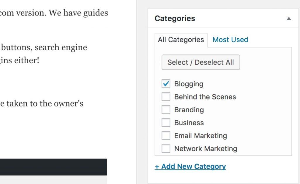 Categories under Post