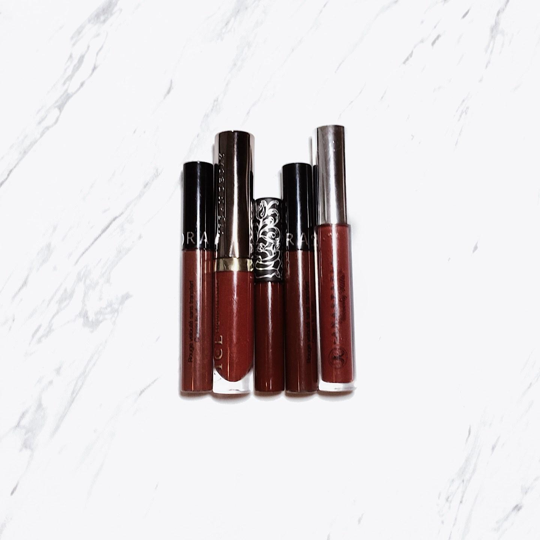 Maroon Liquid Lipsticks + Makeup Look